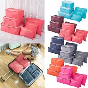 6Pcs Travel Packing Cubes Luggage Organizers Bags